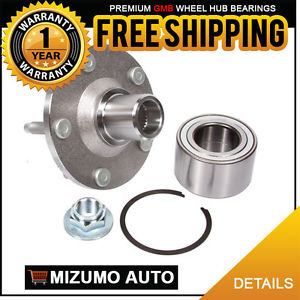 1 New Front Left or Right Wheel Hub Bearing Assembly w/o ABS GMB 799-0176