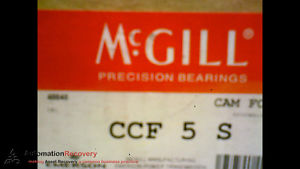 MCGILL CCF 5 S CAM FOLLOWER 5 INCH OUT SIDE ROLLER DIAMETER, NEW #173439