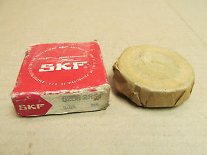NIB SKF 6206 2RS BEARING METAL SHIELD BOTH SIDES 62062RS1 30x62x16 mm NEW