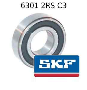 6301 2RS C3 Genuine SKF Bearings 12x37x12 (mm) Sealed Metric Ball Bearing 2RSH
