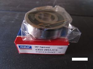 SKF 6303 2RS1 C3, Single Row Bearing VV(=2 NSK,NTN,FAG 2RSR,Timken Fafnir 303PP)