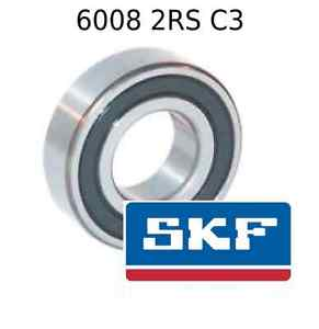6008 2RS C3 Genuine SKF Bearings 40x68x15 (mm) Sealed Metric Ball Bearing 2RSH