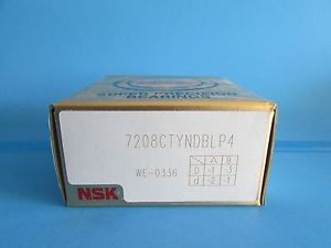 Set of Two NSK7208CTYNDBL P4 ABEC-7 Super Precision Spindle Bearing.