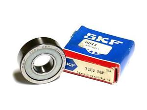 NEW IN BOX SKF ANGULAR CONTACT BALL BEARING 15MM X 35MM X 11MM 7202 BEP