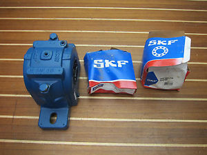 SKF SAF-515 Housing & 22215 EK Spherical Roller Bearing & SNW 15×2.7/16 Adapter
