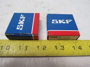 SKF 6200 2RSJEM Single Row Sealed Bearing Lot of 2