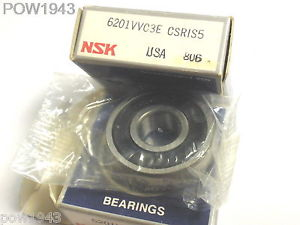 ( 3 PC . ) NSK 6201VVC3E CSRIS5 SEALED BALL BEARING, NEW