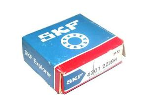 BRAND NEW IN BOX SKF BALL BEARING 6201 2ZJEM (2 AVAILABLE)