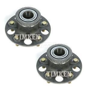 TIMKEN Wheel Bearing & Hub Assembly Rear Pair Set for 01-03 Acura CL NEW