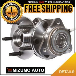 2 New Front Left and Right Wheel Hub Bearing Pair Assembly w/ ABS GMB 725-0010