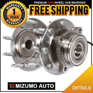 2 New Front Left and Right Wheel Hub Bearing Assembly Pair w/ ABS GMB 730-0231