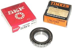 LOT OF 2 NEW TIMKEN SKF LM67048 TAPERED BALL BEARINGS