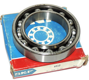 NIB SKF 6012 DEEP GROOVE BALL BEARING 60X95X18MM