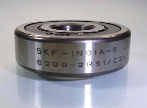 SKF RUBBER SEALED BEARING 6200-2RS1/C3HT