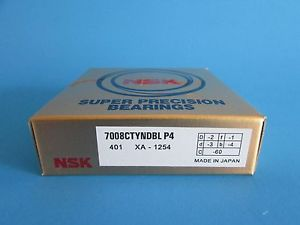 NSK7008CTYNDBL P4 Abec-7 Super Precision Angular Contact. can be match to pair