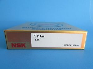 NEW NSK7011AW Angular Contact Bearing 55mmX90mmX18mm