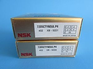 NSK7205CTYNSUL P4 ABEC7 Super Precision Contact Spindle Bearing (Matched Pair)