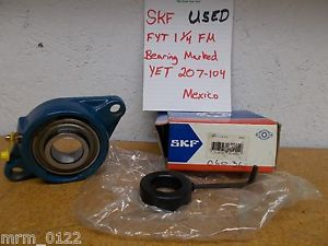 SKF FYT-1-1/4-FM YET 207-104 2 Bolt Flange Ball Bearing Used