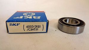 NEW IN BOX SKF 6003-2RS1/C3HT51 SEALED BALL BEARING