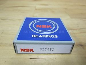 NSK BEARING DEEP GROOVE PRECISION BALL BEARING 6206ZZ