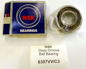 NSK 6307VV C3 Deep Groove Ball Bearing NEW