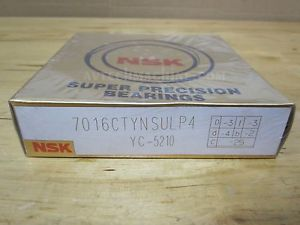 NSK PRECISION BEARING ANGULAR CONTACT BEARING 7016CTYNSULP4