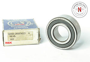 NSK 3205B-2RSR-TNG-C3 DOUBLE SEAL, DOUBLE ROW BALL BEARING, 25mm x 52mm x 20.5mm