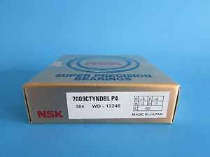 NSK7009CTYNDBL P4 Abec-7 Super Precision Angular Contact. can be match to pair