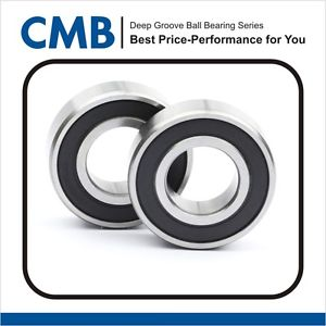 2PCS 6203-10-2RS ( 6203-5/8 2RS ) rubber sealed bearing 15.875x40x12 mm