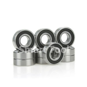 10pcs Ball Bearing 6200-2RS 10x30x9mm Rubber Sealed Deep Groove 6200RS Bearings