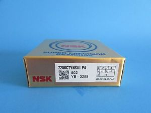 NSK7206CTYNSUL P4 Abec-7 Super Precision Angular Contact. can be match to pair