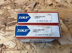 2-SKF ,Bearings#7304 BECBY, 30day warranty, free shipping lower 48!