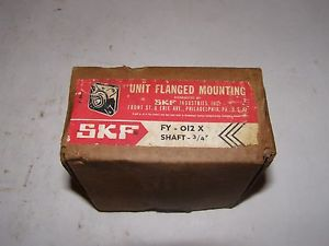 *NEW* New Old Stock SKF Flange Mount Bearing FY-012 X