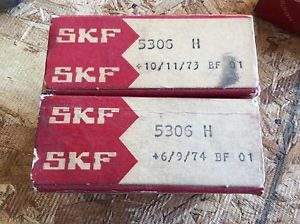 2-SKF Bearings, Cat# 5306 H, comes w/30day warranty, free shipping