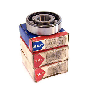 SKF Lot of 3 Groove Roller Ball Bearing Model 6302JEM