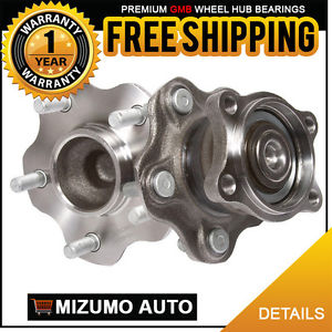 2 New Rear Left and Right Wheel Hub Bearing Assembly Pair w/o ABS GMB 750-0290