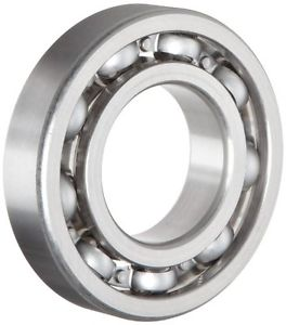 NSK 6206 Deep Groove Ball Bearing, Single Row, Open, Pressed Steel Cage, Normal