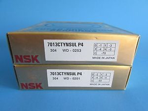 NSK7013CTYNSUL P4 ABEC7 Super Precision Contact Spindle Bearing (Matched Pair)