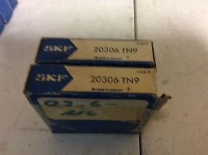 2-SKF ,Bearings#20306 TN9 ,Free shipping to lower 48, 30 day warranty