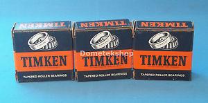 Timken 07196 Tapered Roller Bearings (New, Lot of 3)