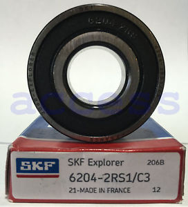 6204-2RS C3 SKF FRANCE 1 PC 20X47X14 FACTORY NEW BEARING SHIPS FROM THE U.S.A.