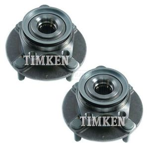 TIMKEN HA590285 Front Wheel Hubs & Bearings Pair Set for 07-12 Versa