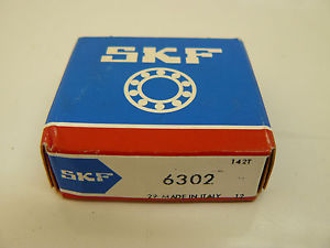 NEW (SEALED IN BOX) SKF 6302 BALL BEARING 15 X 42 X 13MM DEEP GROOVE RADIAL
