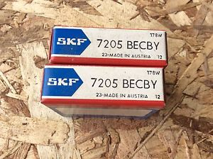 2-SKF ,Bearings#7205 BECBY ,30day warranty, free shipping lower 48!