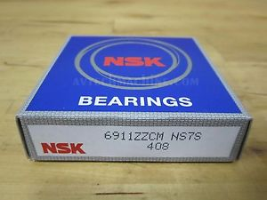 NSK BEARING DEEP GROOVE BALL BEARING 6911ZZ