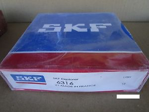 SKF 6316 Radial Bearing, Single Row (=2 FAG, KOYO, NTN, NSK)