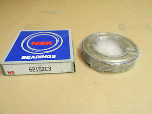 NIB NSK 6215ZC3 BEARING METAL SHIELD 1 SIDE 6215Z C3 6215 Z C3 75x130x25 mm NEW