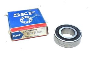 SKF BEARING 6003-2RSJEM DOUBLE SEAL 17mm BORE 35mm O. DIAMETER 10mm O. WIDTH