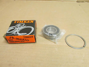 NIB TIMKEN 205PPG BEARING DOUBLE RUBBER SHIELD 205PP G w/ SNAP RING 25x52x15 mm