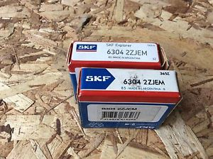 2-SKF ,Bearings#6304 2ZJEM, 30day warranty, free shipping lower 48!